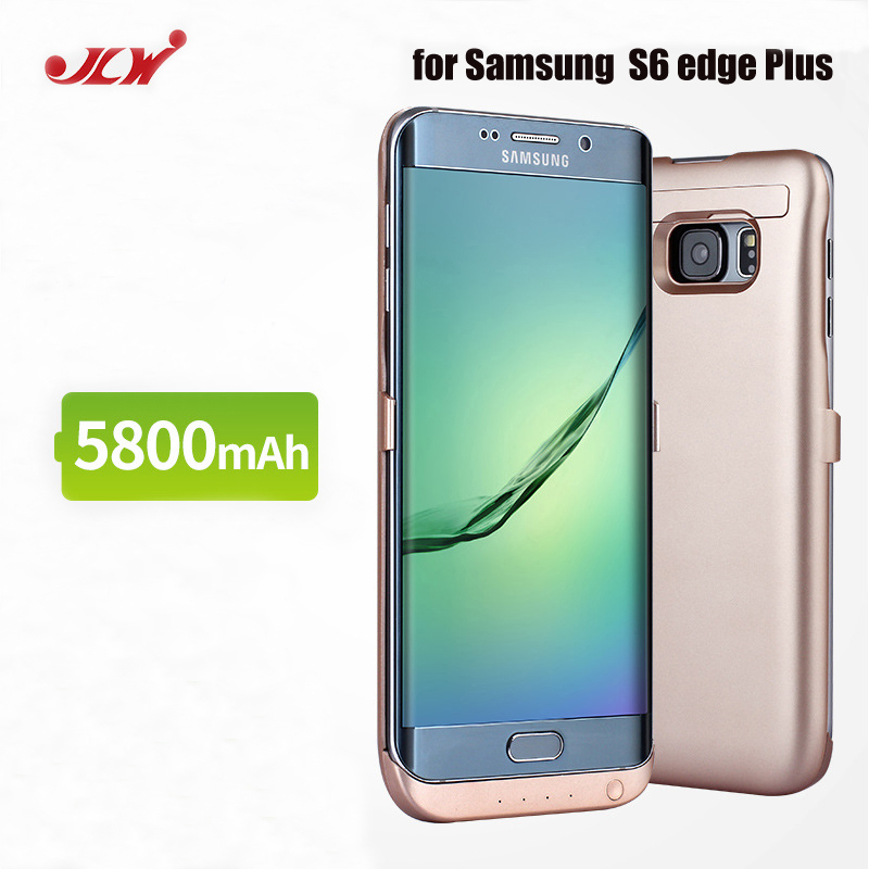 uk availability 0cac9 4e381 US $27.54 |JLW 5800mAh Battery Charger Case fr Samsung S6 Edge Plus  External Clip Battery Backup Rechargeable Case Cover fr Galaxy S6 edge+-in  Battery ...
