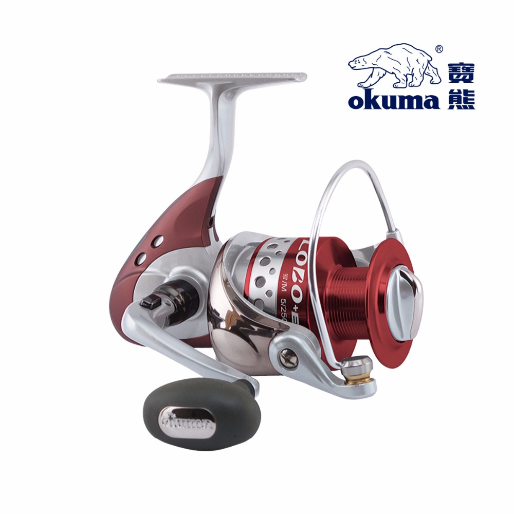 Hot selling fishing tackle Okuma fishing vessel wheel spinning reel gray wolf LOE-1000/2000/3000/5000 series new yumoshi fishing reel 9 1bb spinning reel boat rock fishing wheel 4000 9000 series reel