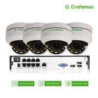 4ch 5MP POE PTZ System Kit H.265 CCTV Security 8ch NVR Indoor Waterproof 2.8-12mm 4X Optical Zoom IP Camera Surveillance Video
