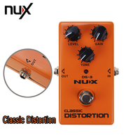 Nova Chegada DS-3 NUX Stomp Boxes Distorção/Overdrive Distortion True-Bypass Pedal de Guitarra Clássica