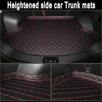 ZHAOYANHUA Custom fit Heightened side car Trunk mats for Mercedes Maybach s400 S500 S600