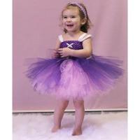 Rapunzel Girls Tutu Dress Rapunzel Costume Princess Pretty Purple And Pink Girls Handcrafted Tutu Dress Princess