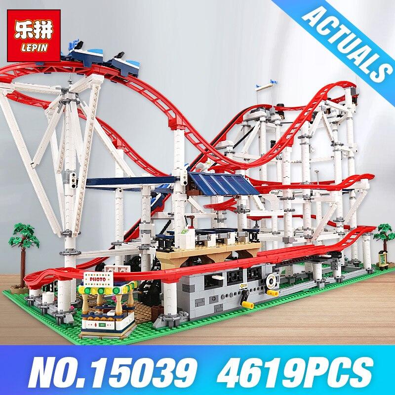 DHL Lepin 15039 La 10261 Rollere Drôle Modèle Coaster Ensemble Série Bâtiment Blocs Auto-Verrouillage Briques Jouets pour Enfants DIY Cadeaux