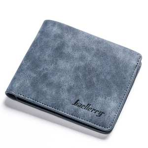 PU Wallet Card-Holder Clutch Short Male Purse Folding Credit Retro Casual Coin-Bag Men