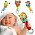 2015 Hot 4 designs Soft toys Animal Model Handbells Rattles baby Rattle Cute Gift Baby Educational toy Age for 3M+