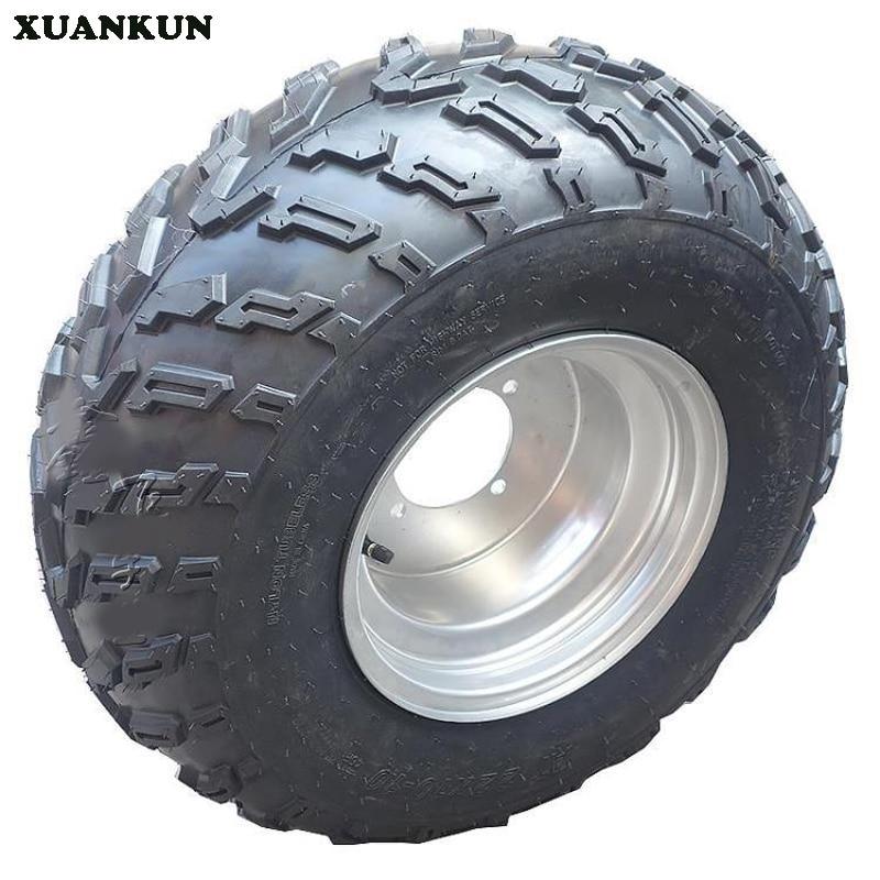 купить XUANKUN  ATV 10-Inch Tires Four Rounds Off-Road Kart Accessories 22X10-10 Inch Vacuum Tire Wheels недорого