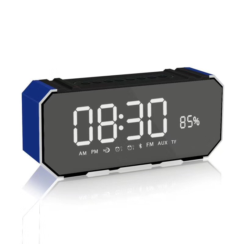 DG1000 Wireless Bluetooth Speaker LED Liquid Crystal Display Alarm Clock Speaker 2400mah Music Microphone Loudspeaker BoxDG1000 Wireless Bluetooth Speaker LED Liquid Crystal Display Alarm Clock Speaker 2400mah Music Microphone Loudspeaker Box