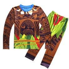 7285065e737d7 Maui Pyjama pour garçons Moana vaiana Costume filles Pyjama de noël Pyjama  enfants garçons Pijamas manches