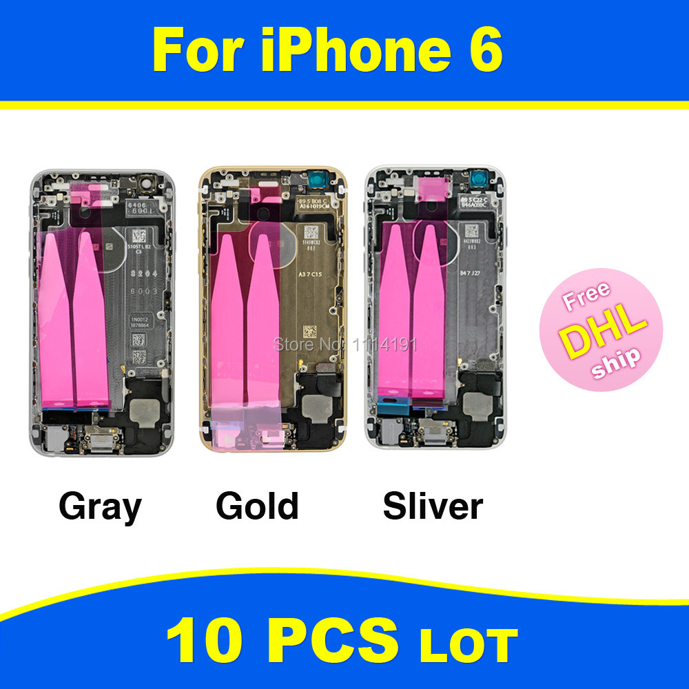 FREE DHL X 10 Chassis Full Parts for iPhone 6 6G Middle Frame Bezel Midframe Housing