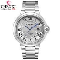 Fashion CHENXI Brand Classic Design Date Day Display Clocks Man Full Stainless Steel Wrist Watch Mens