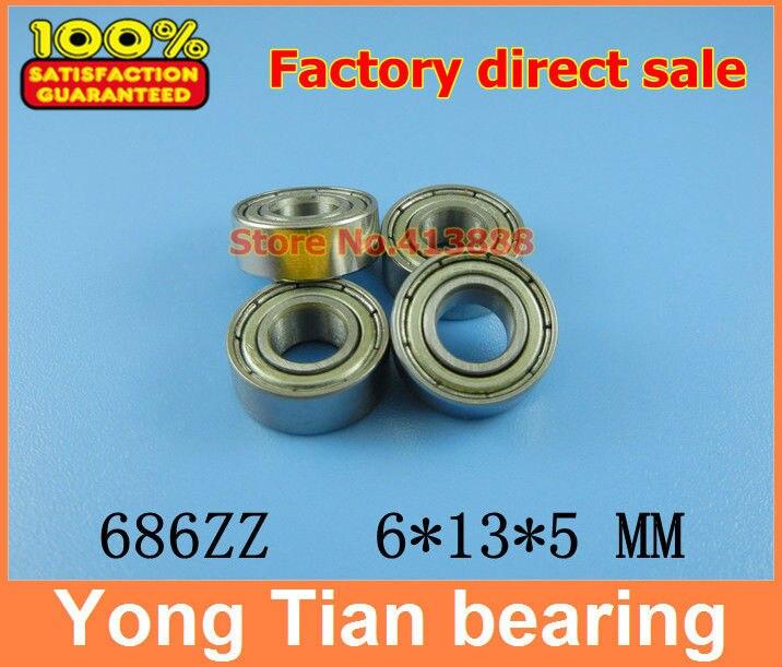 NBZH цена продажи 50 шт. тонкие стенки глубокий шаровой подшипник 686ZZ 6*13*5 мм ABEC-5 Z2V2