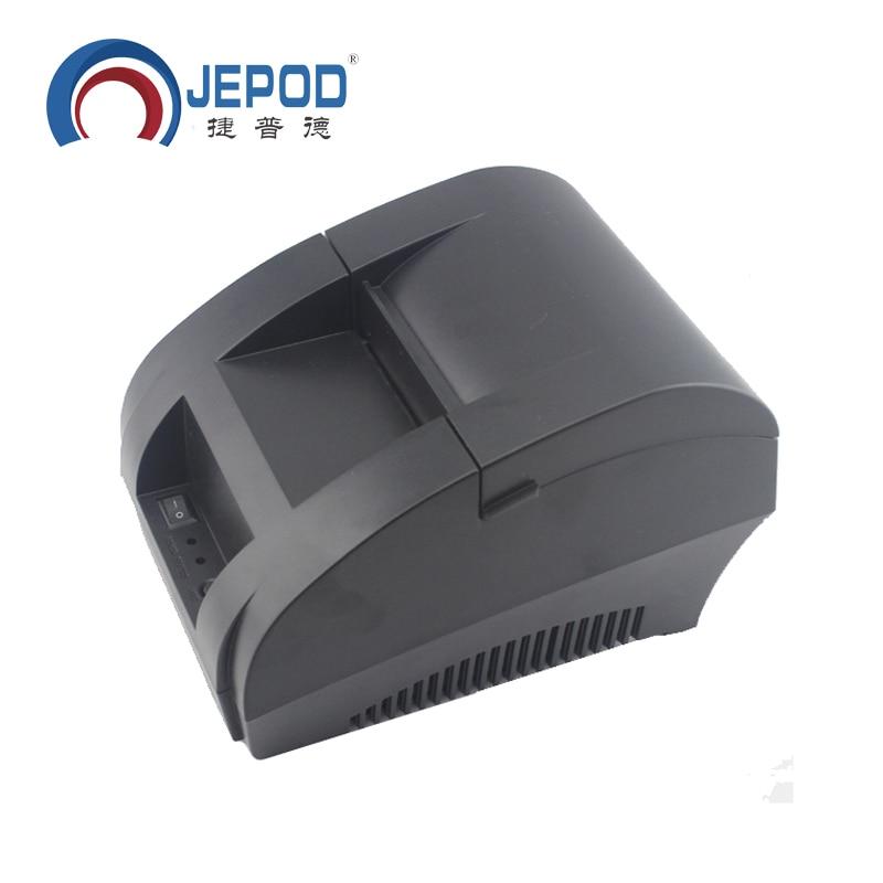 JP-5890K JEPOD 58mm Stampante Termica per il Supermercato Stampante Termica per Ricevute per il Sistema POS Termica Stampante di Fatturazione per la Cucina