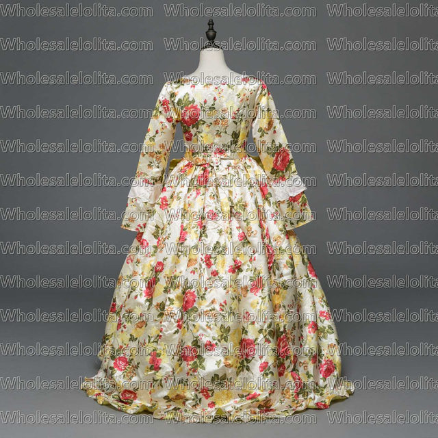 Online Shop New Gothic Period Masquerade Gown Holiday Marie ...