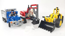 ФОТО 83 City Technic Construction Team Fleet Excavator Bulldozer Truck 3in1 Building Block Brick Toy Compatible Lepins Figures