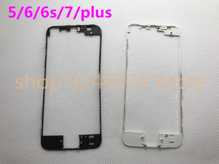 100PCS A for iPhone 8 7 6 6s plus Middle Bezel Frame Bracket with liquid glue for iPhone 4 5 5s Chassis Chrome With Hot Glue in Phone Holders Stands from Cellphones Telecommunications