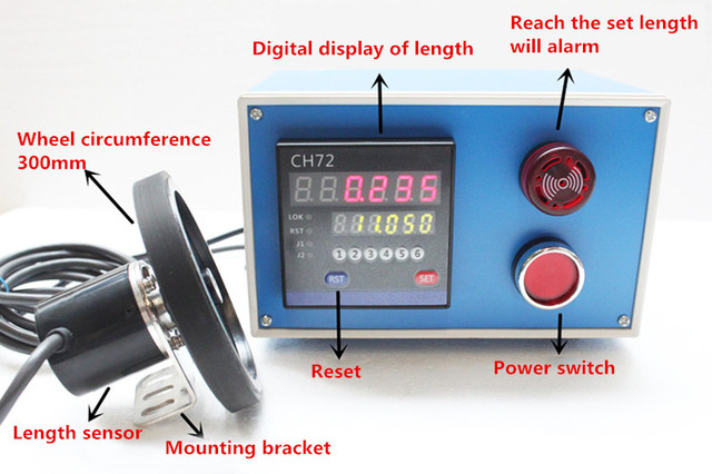 electronic digital display length counter meter length measurement ...