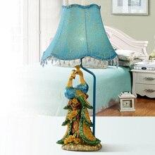 Peacock Modern Table Lamps Living Room Lamp Bedroom Bedside Children Room  Lamp Desk Light Decorative Lighing