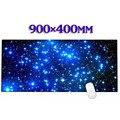 Azul cielo estrellado De Goma Escritorio Gaming Mouse Pad Mat Para Ordenador portátil PC gta 5 CS XL 900*400mm