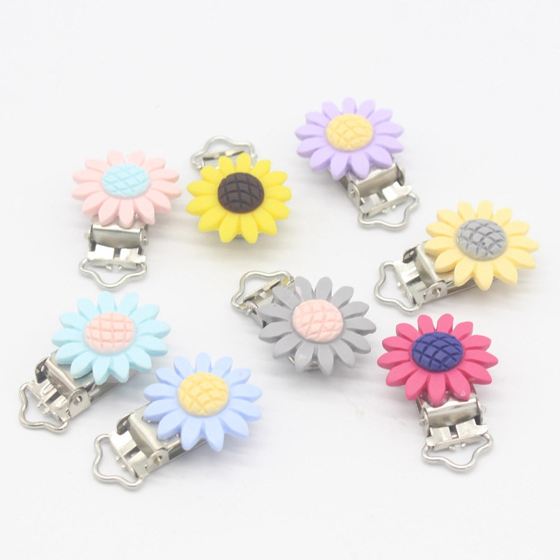 1pc Baby Cute Sun Flower Pacifier Clip Infant Resin Pacifier Chain Clip DIY Accessories Nipple Holder Clips For Girls Boys1pc Baby Cute Sun Flower Pacifier Clip Infant Resin Pacifier Chain Clip DIY Accessories Nipple Holder Clips For Girls Boys