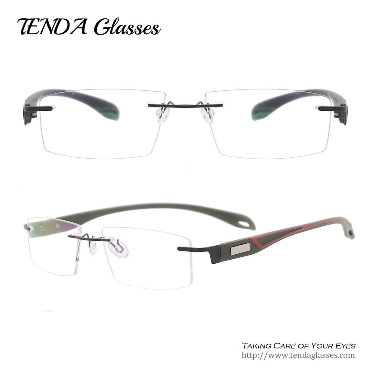 Rimless Glasses Lightweight : Men Fashion Colorful Lightweight Spectacles TR90 Rimless ...