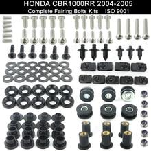 ФОТО motorcycle complete fairing bolt kit body screws for honda cbr 1000 rr 2004 2005 stainless