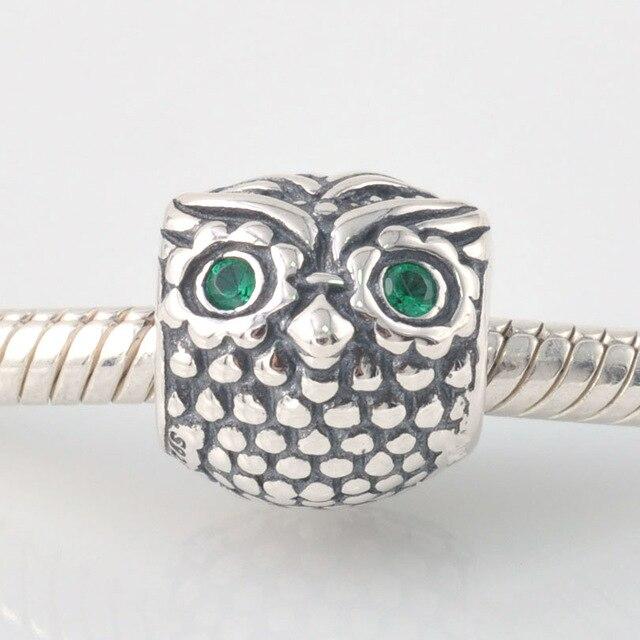 c75533b30 Fits Pandora Charms Bracelet 925 Sterling Silver Bead Wise Owl Stone Charm  Beads DIY Bracelets for Women Jewelry Free Shipping