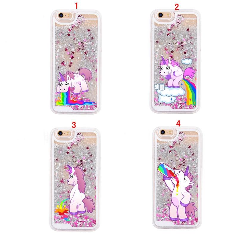coque iphone 4 licorne liquide
