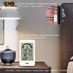 Image 5 - FanJu FJ3356 Digital Thermometer Hygrometer Weather Station Wall Clock Wireless Sensor Alarm Comfort Pointer Display Table Watch