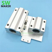 SWMAKER Reprap Prusa i3 3D printer parts X axis Metal exturder carriage aluminum alloy for wade/titan extruder