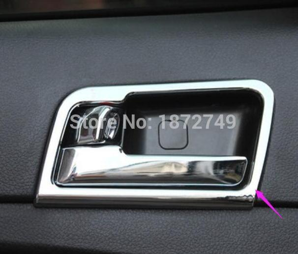 Car modeling franchise Store ABS Chromium interior inner door handle cup bowl frame moulding trim fitting 4pcs for 2016 KIA K5 Optima