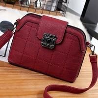 High Quality Puers Leather Women Top Handle Bag Fashion Lock Women Shoulder Bags Shell Stlye Women