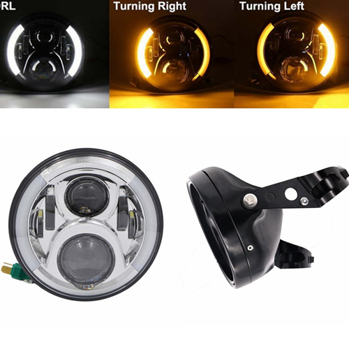 For Yamaha Road Star V-Star 1100 V-Star 650 motorcycle 7 LED headlight replacement daymaker lamp with halo ring angle eyes 20pcs lot 2014n