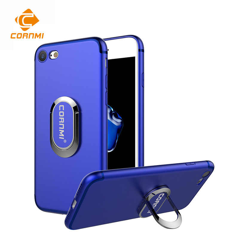 CORNMI For iPhone 6S Plus Phone Ring Holder i6P i6sP Case TPU Cover For iphone 6 Plus Metal Stent Slim Soft Shell