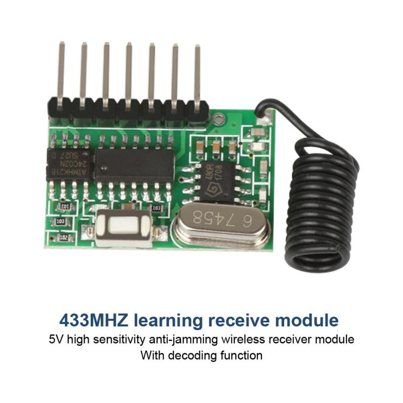 Smart home 433MHz RF Universal Superheterodyne wireless Receiver Module Learning Code 1527 diy For Arduino uno Remote control