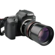 Lighdow – objectif téléobjectif 135mm F2.8, pour Canon EOS 1300D 6D 6DII 7DII 77D 760D 800D 60D 70D 80D 5DIV 5DIII Nikon DSLR