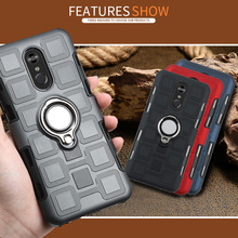 Luxury Magnetic Ring Stand mobile Case For LG Q Stylo 4 Q6 P