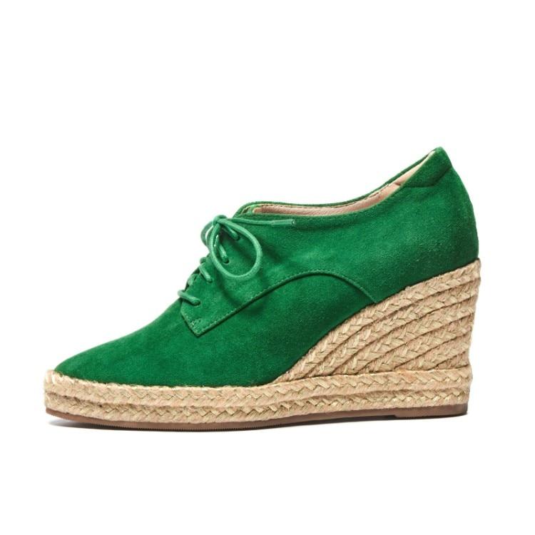 Negro {zorssar} Mujer Gamuza 2018 Nueva Casual Punta Bombas Moda Cuñas De Tacones Zapatos verde pF7qfxqwU