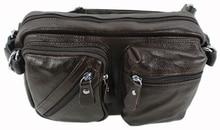 Hot Genuine leather male big capacity waist pack mobile phone bag real cowhide messenger bags for men man shoulder bag057