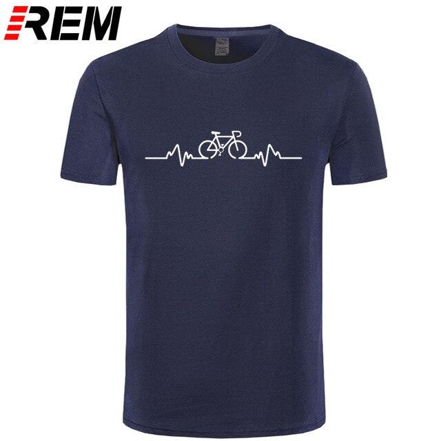 Motociclista Pulso T-SHIRT Tee Cyclinger Bicicleta Equitação Médico Médico Engraçado Presente de Aniversário Roupas T Shirt Engraçado T-Shirt Dos Homens