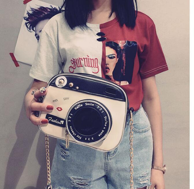 2019 girl vintage fashion lady camera shoulder bag women handbag chain messenger female crossbody bag 4