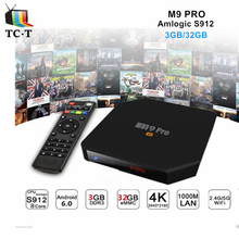 [Original] R-TV BOX M9 PRO 3GB/32GB Amlogic S912 64bit Octa-core TV BOX WIFI AP6255 2.4GH/5.8GH Bluetooth M9 Pro Android 7.0