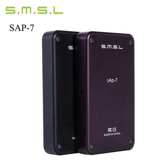 цена на New Version SMSL SAP-7 HIFI Portable Headphone Power Amplifier Aluminum Enclosure Headphones AMP Integrated Amplificador Blackpg