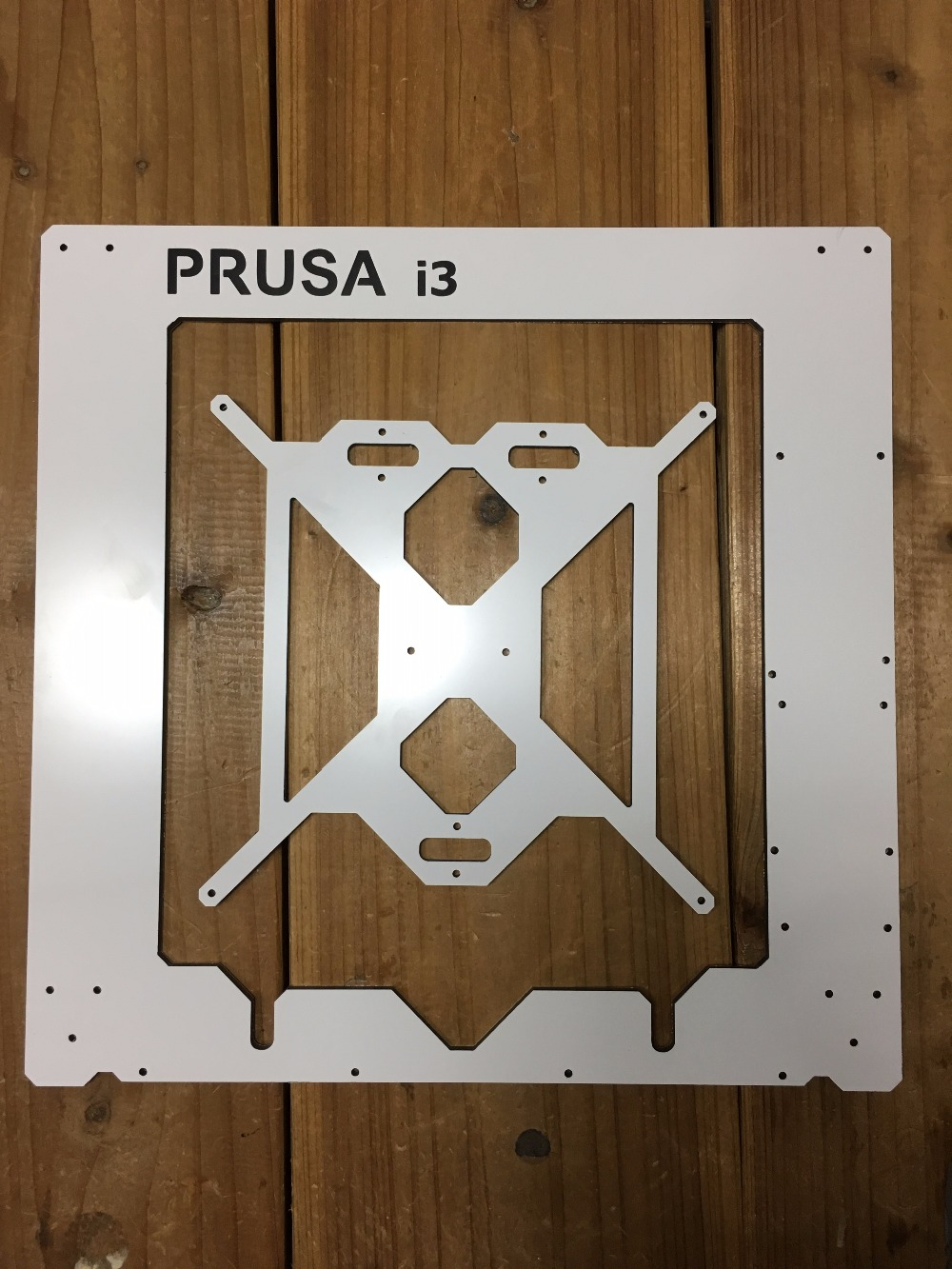 Prusa i3 Rework 3D printer aluminum composite  frame kit RepRap Prusa i3 white color composite plate frame 3D Printer DIY 6 mm new anet e10 e12 3d printer diy kit aluminum frame multi language large printing size high precision reprap i3 with filament