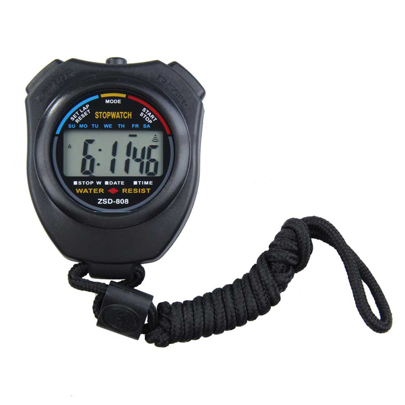 New Sports <font><b>Stopwatch</b></font> Professional Handheld Digital LCD Sports <font><b>Stopwatch</b></font> Chronograph Counter Timer with Strap
