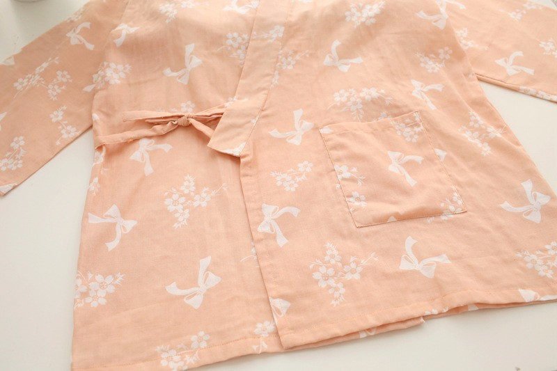 female cotton yukata pajamas set
