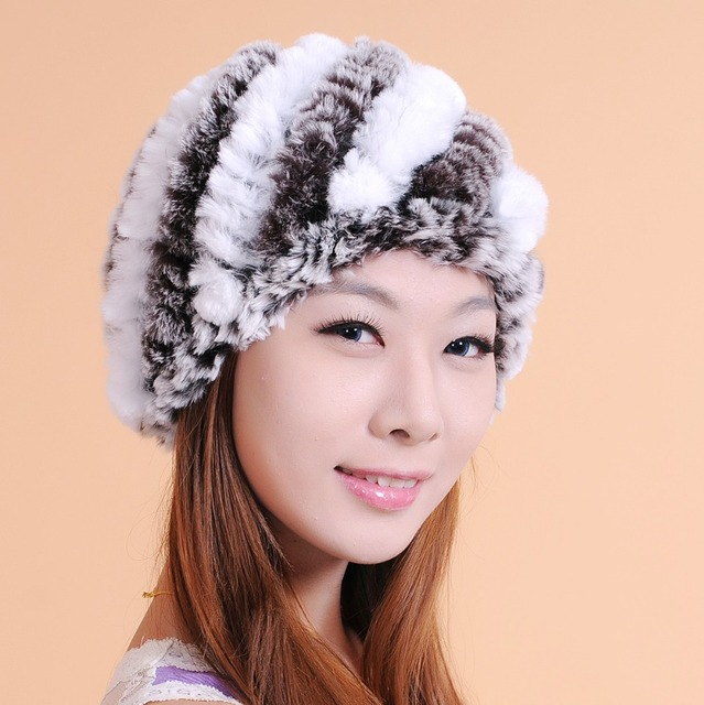 24ffa79f54400 Winter Warm Pure Soft Cony Hair Wool Knitted Hat for Women Floppy Cloche  chapeu feminino gorro touca feminino inverno A001