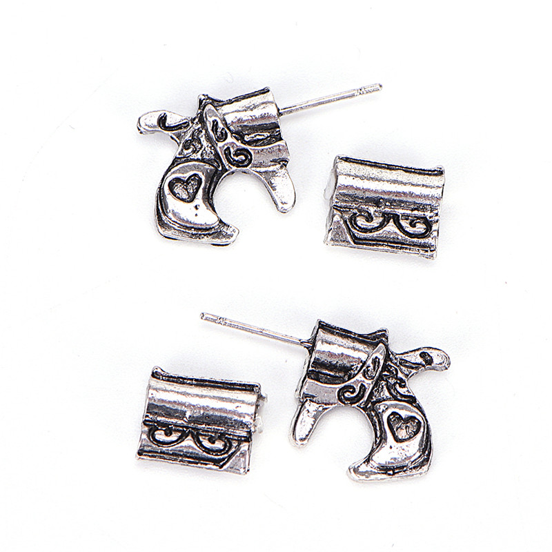 Earrings Lower Price with New Style Hot Sale 3pairs 3d Fake Gauge Double Pistol Gun And Bullet Faux Plug Earrings Fine Jewelry For Ladies And Girls High Quality Goods