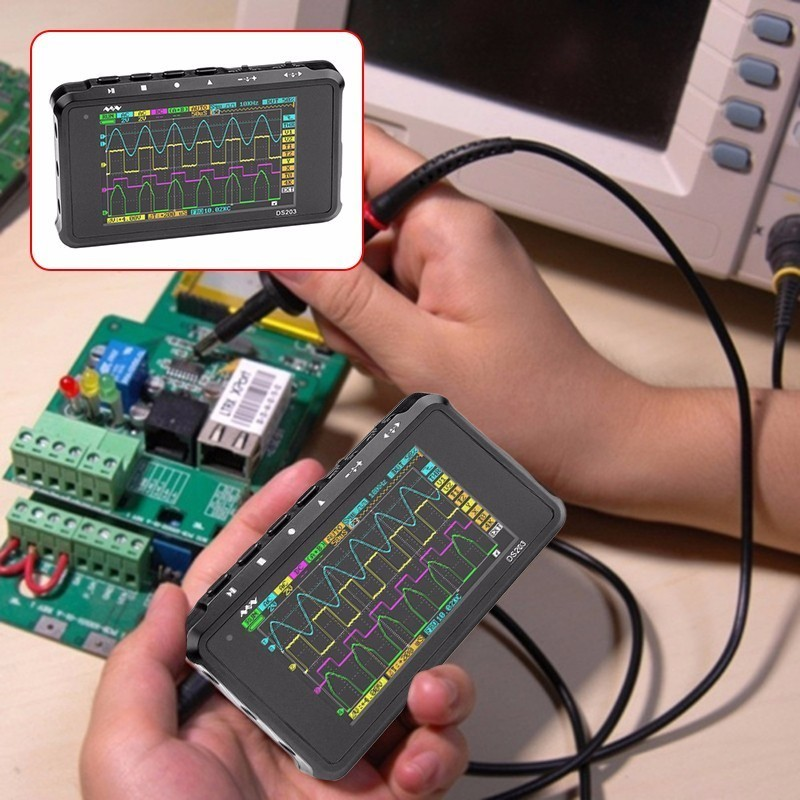 DSO203 DS203 Digital Oscilloscope Diy kit Nano portable 8MHz bandwidth 4 Channels arm Cortex M3 CPU  Aluminum Meter Case цена и фото