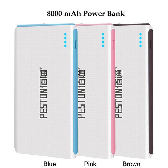Tecnología externa 8000 mah banco de potencia para iphone 5/5s/6/6 kailiya s/samsung/xiaomi/huawei/htc/lg/tablet móvil batería cargador