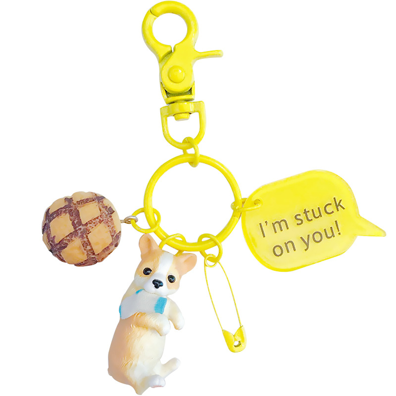 Labrador Koki French Bulldog Dog Key Chain Key Ring Gift For Women Girl Bag Pendant 2018 New Charm Key chain Fashion Jewelry